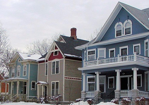 Homes in winter