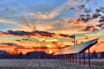 solar winter sunset
