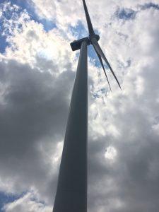 wind turbine from below